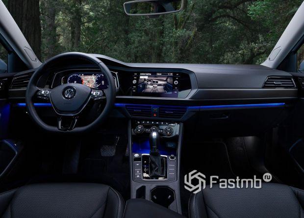 Интерьер нового Volkswagen Jetts 2019