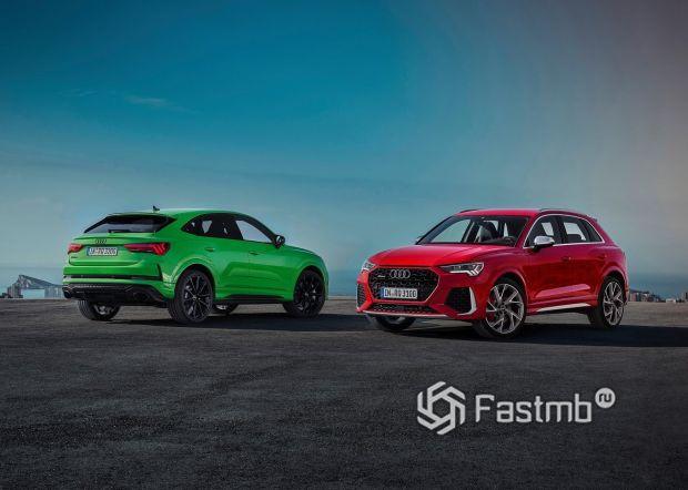 Новые кроссоверы Audi RS Q3 Sportback 2020
