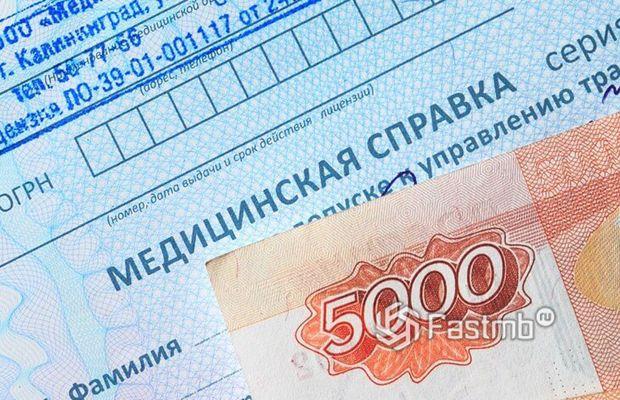 Сколько стоит медсправка в России