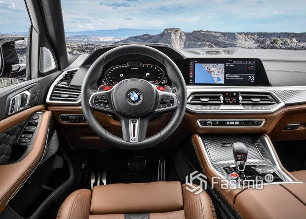 Интерьер BMW X5 M Competition 2020