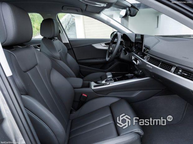 Audi A4 2020, передние сидения