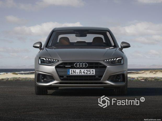 Audi A4 2020, вид спереди