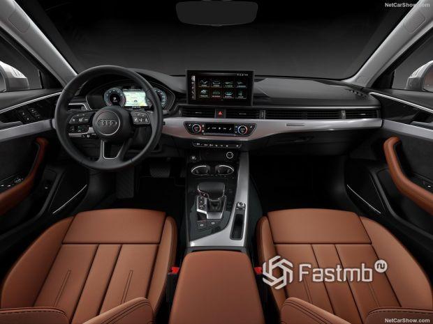 Audi A4 2020, руль и панель управления