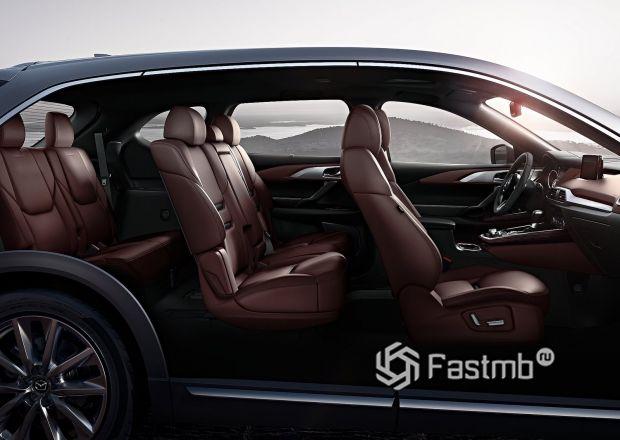 Три ряда сидений новой Mazda CX-9