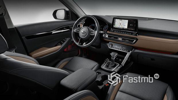 Kia Seltos 2020, руль и панель управления