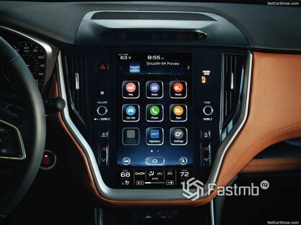 Subaru Legacy 2020, элементы интерьера