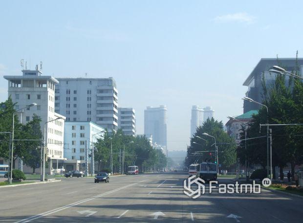 дороги в Пхеньяне (КНДР)
