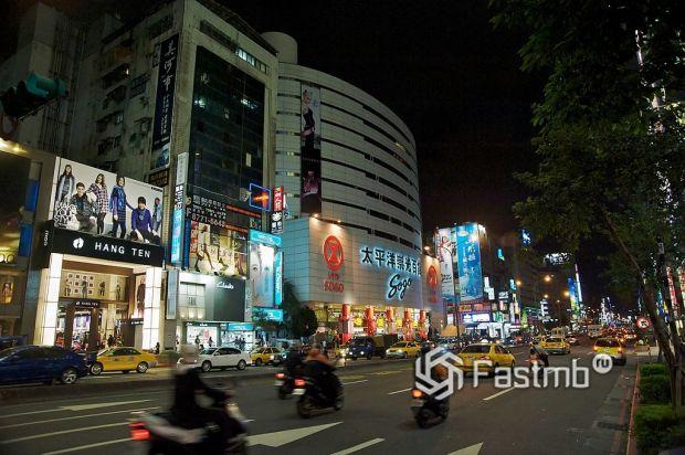 дороги в Тайбэе (Тайвань)