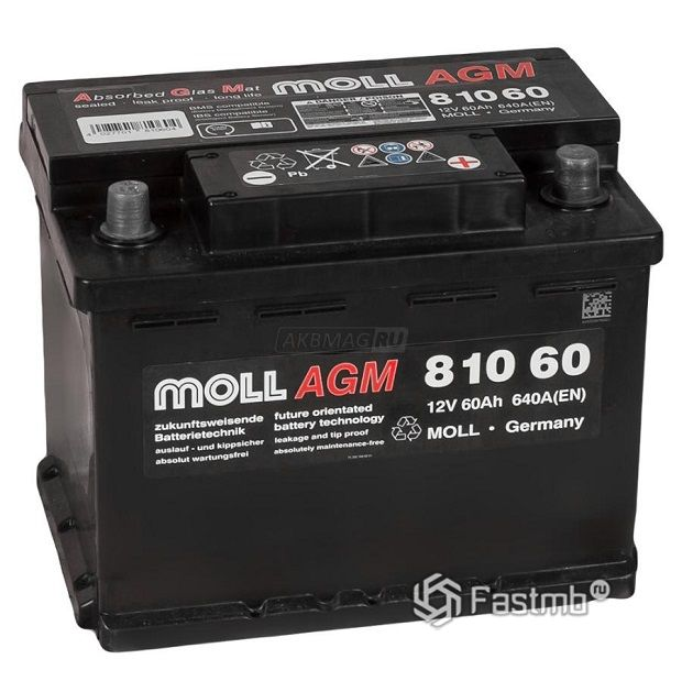 Moll AGM Start-Stop 60R 640А