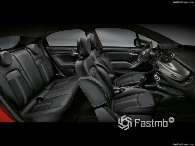 Салон Fiat 500X Sport 2020, интерьер