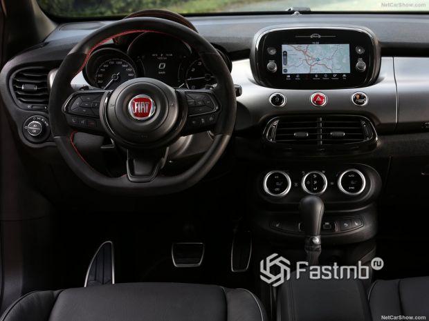 Салон Fiat 500X Sport 2020, руль