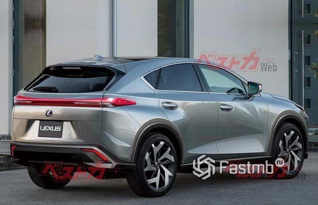 Новый Lexus NX 2022, вид сзади