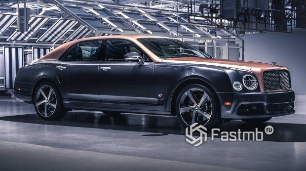 Седан Bentley Mulsanne 2020, двухцветный окрас кузова