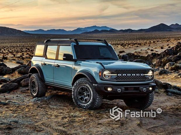 Внедорожник Ford Bronco 5 door 2021, решетка радиатора