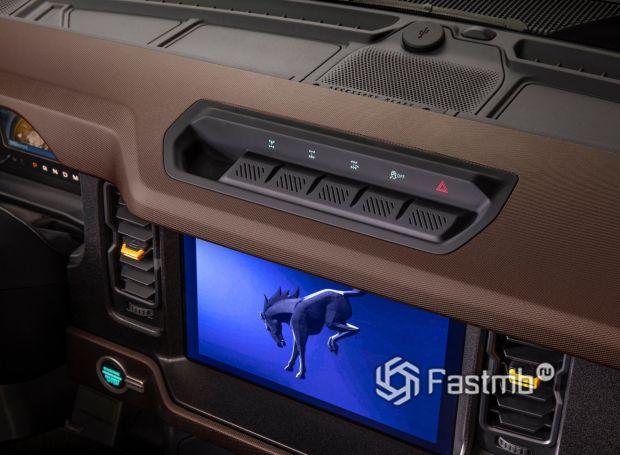 Ford Bronco 3DR 2021, панель управления приводом