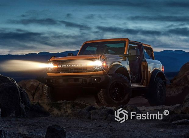 Ford Bronco 3DR 2021, работа передней оптики