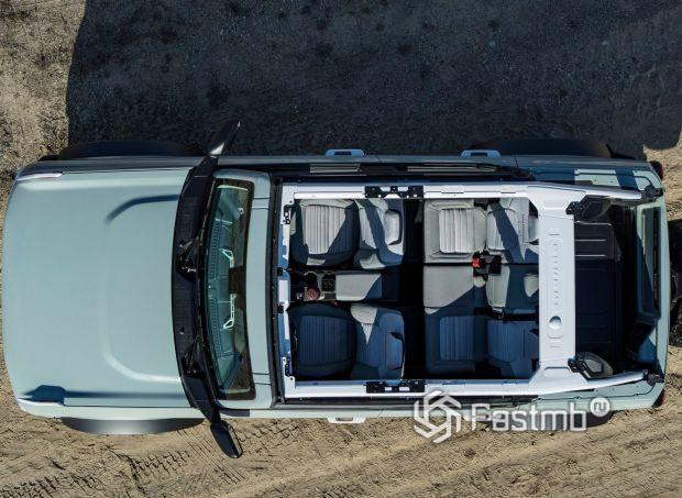 Ford Bronco 5 door 2021, вид сверху
