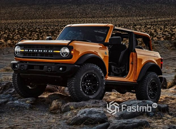 Ford Bronco 3DR 2021, снятые двери