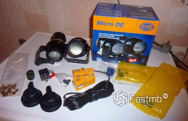 противотуманные фары Hella Micro DE