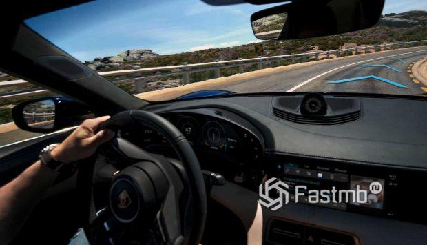 Передняя панель Porsche Taycan Turbo S 2020