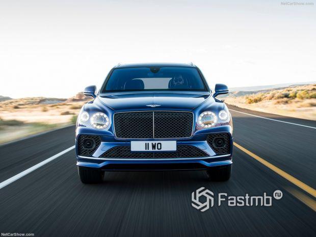 Bentley Bentayga Speed 2021, вид спереди