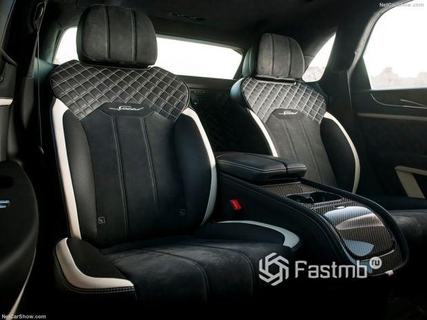 Салон Bentley Bentayga Speed 2021, задние сидения