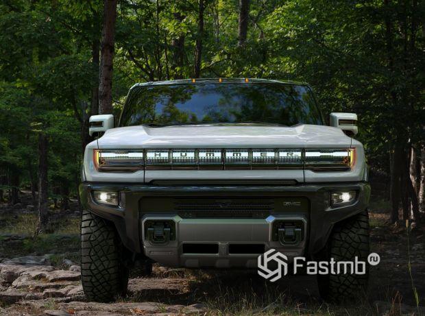 Hummer EV 2021, светодиодная оптика