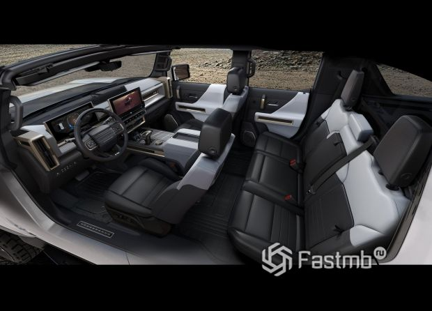 GMC Hummer EV 2020, интерьер пикапа