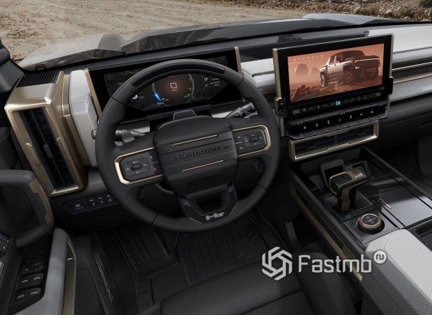 Hummer EV 2020, рулевое колесо