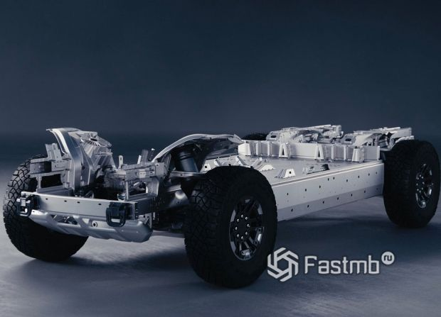 Hummer EV 2021, основа пикапа
