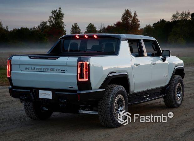 GMC Hummer EV 2021, светодиодные стопы