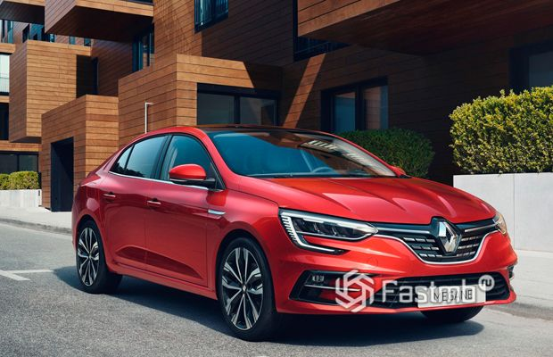 Новый Renault Megane седан, вид спереди