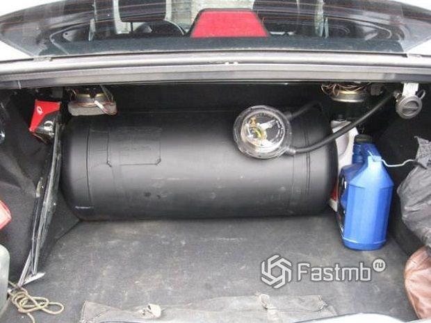 Сокращение полезного объема багажного отделения при установке ГБО