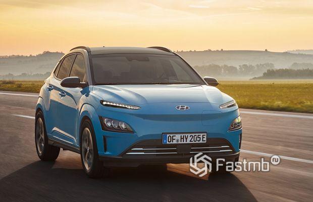 Hyundai Kona Electric 2021, вид спереди