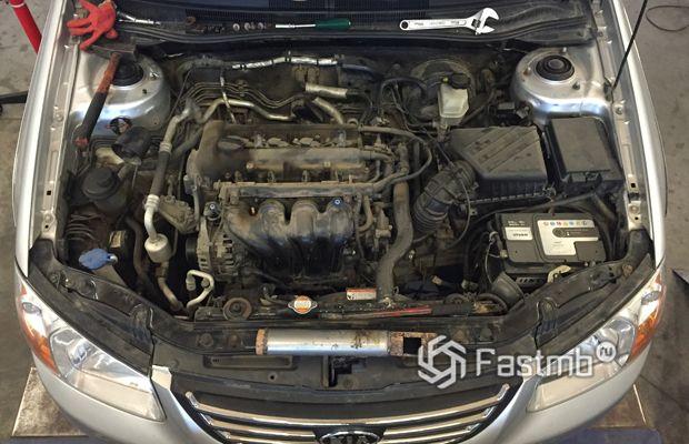 Kia Cerato 2005 рестайлинг, двигатель