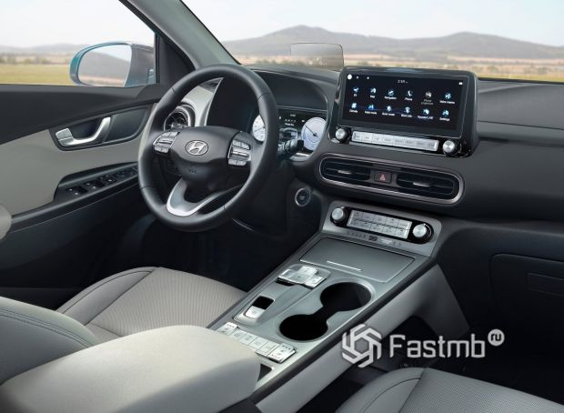 Hyundai Kona Electric 2021, интерьер кроссовера