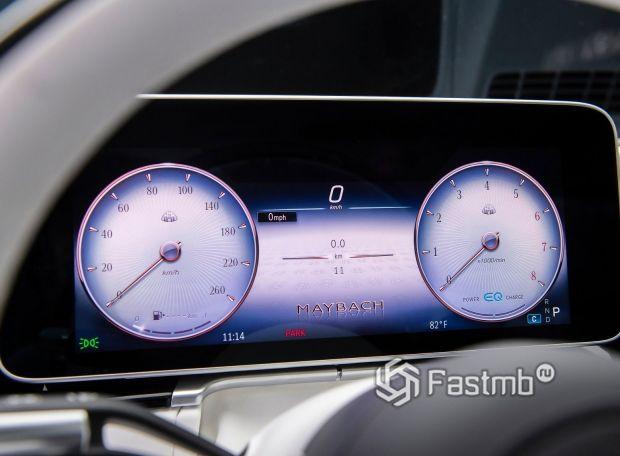 Mercedes-Maybach S-Class 2021, цифровая панель приборов