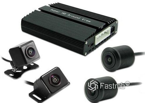 Блок управления и камеры комплекта кругового обзора MyWay