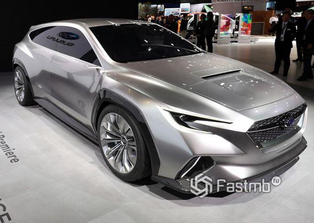 Электрокар концепт Subaru Viziv, вид спереди