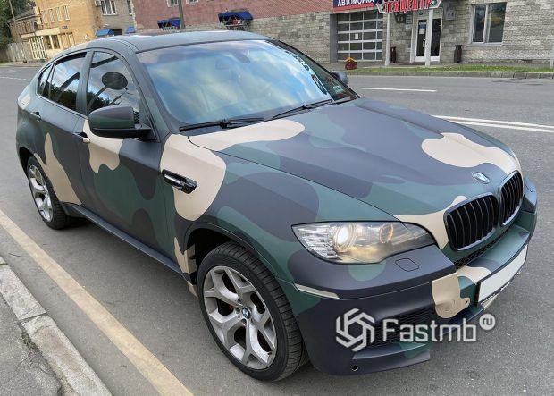 BMW X6, виниловая камуфляжная пленка