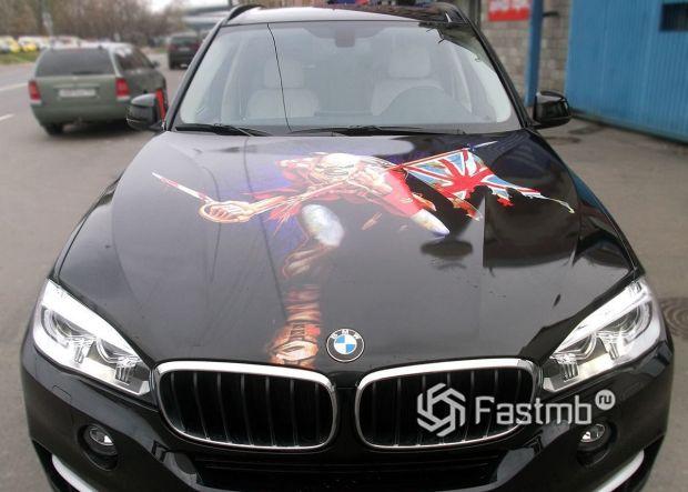 BMW X5 F15, виниловый рисунок на капоте