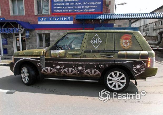 Полиграфический автовинил, стилизация Range Rover