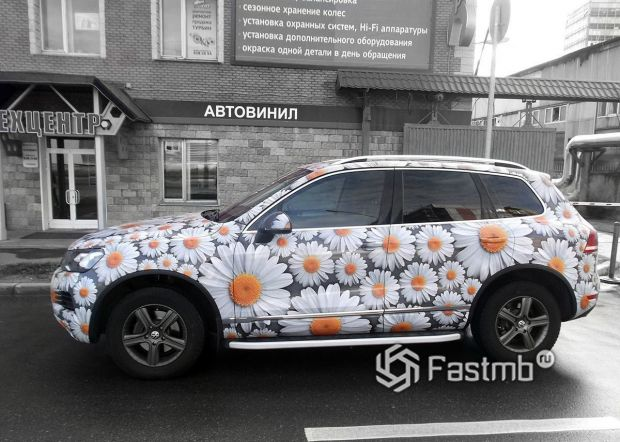 Volkswagen Touareg, оклейка кузова винилом с рисунком