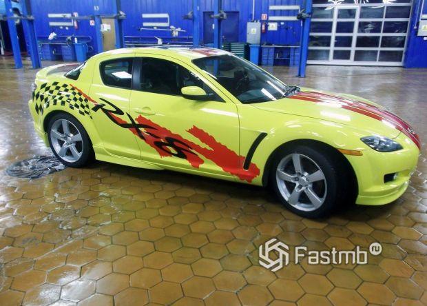 Mazda RX8, оклейка кузова винилом