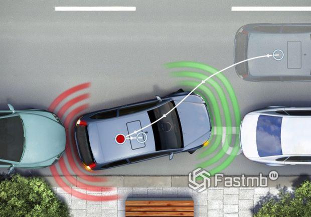 Принцип работы системы автоматической парковки