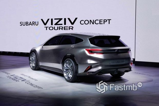 Электрокар концепт Subaru Viziv, вид сзади