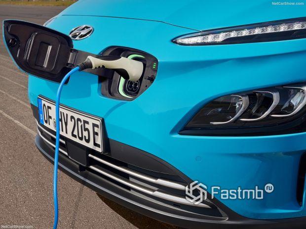 Kona Electric 2021, зарядка