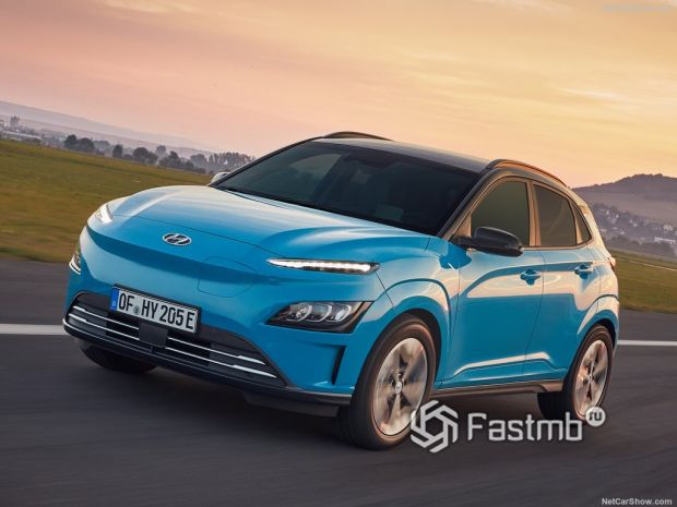 Hyundai Kona Electric 2021 – повышенный уровень комфорта и безопасности