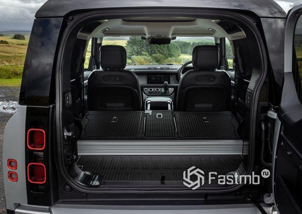 Land Rover Defender 90 2021, багажное отделение