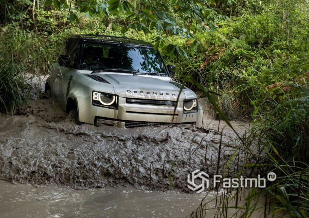 Land Rover Defender 90 2021, передняя оптика
